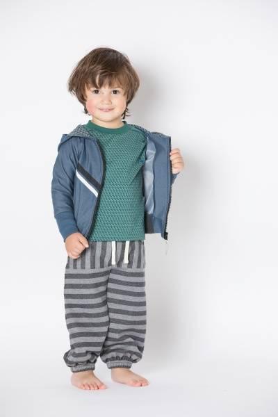 Albababy, Hillan baggy pants phantom melange striped