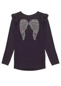 Bilde av Angels face, svart genser med