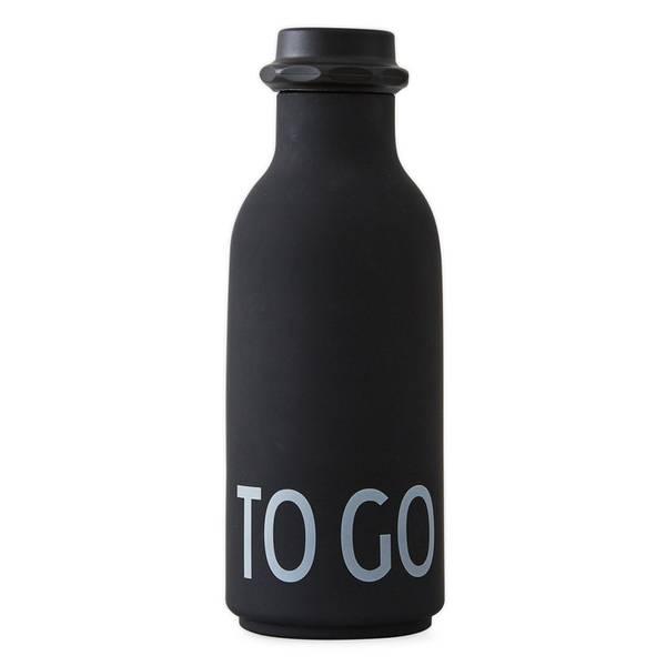 Design Letters, To go drikkeflaske svart