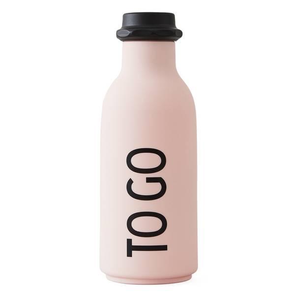 Design Letters, To go drikkeflaske rosa