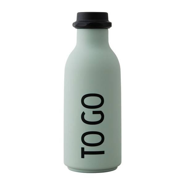 Design Letters, To go drikkeflaske soft green