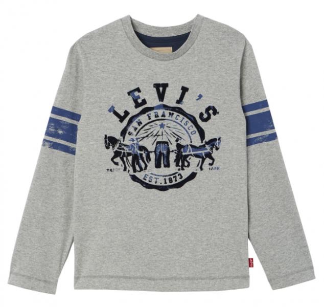 Levis, Vorsity longsleeve marled grey