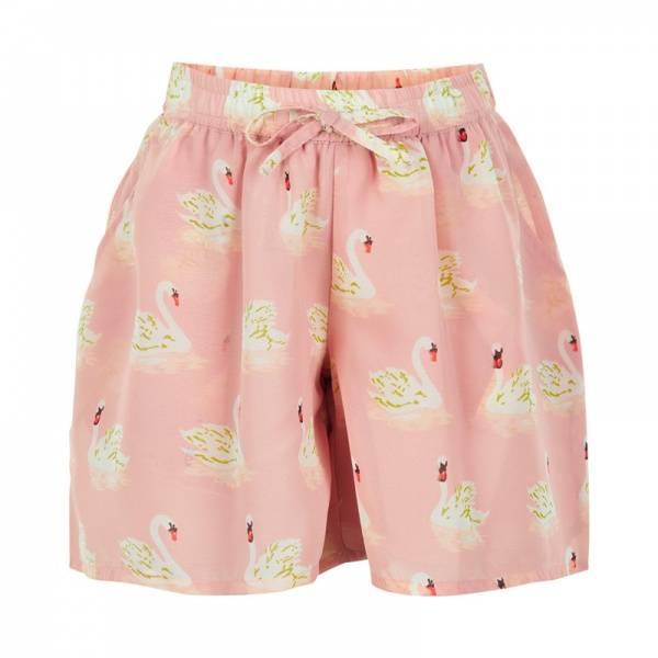 Creamie, Swan print shorts, rose smoke