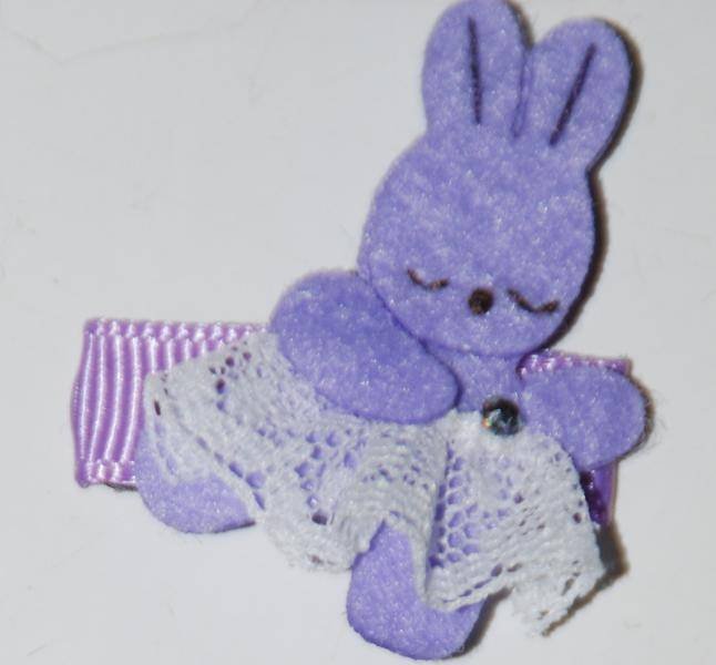 Hårspenne lilla kanin 324. Den lille prikken over i'en