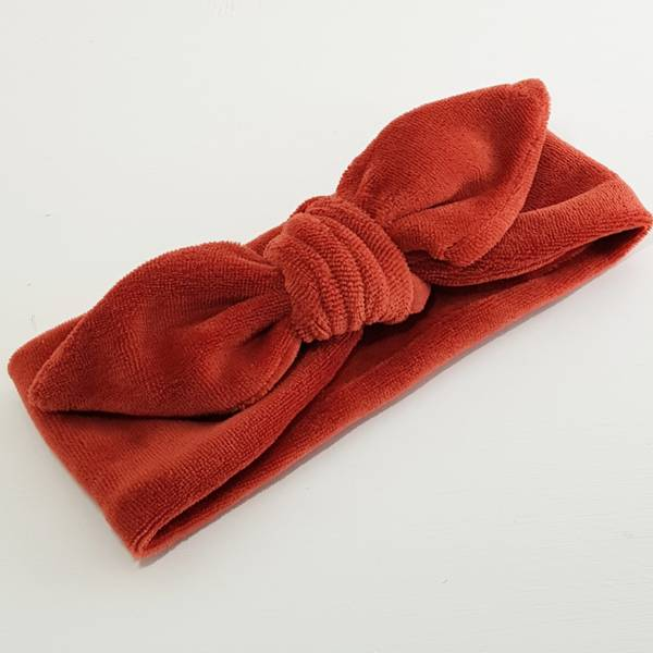 Unik Design, Knytebånd spiss matt velour rust