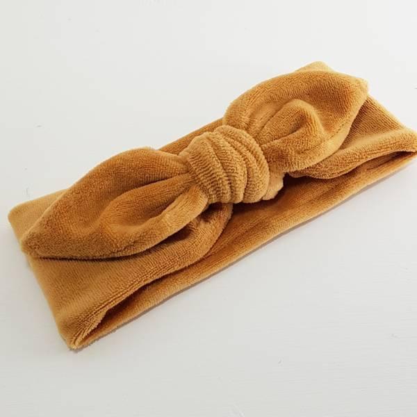 Unik Design, Knytebånd spiss matt velour karamell