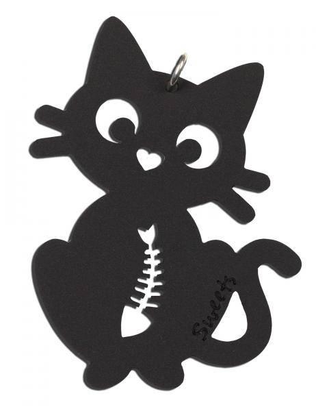 Sweets, akrylsmykke svart katt