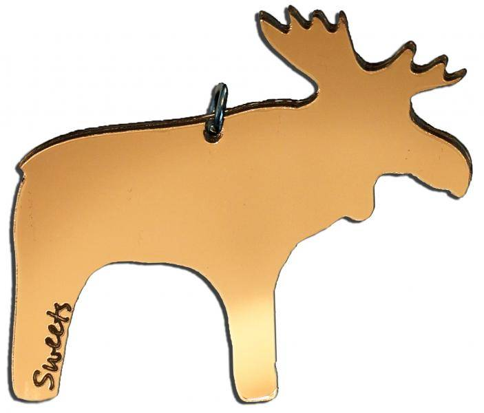 Sweets, akrylsmykke elg bronze