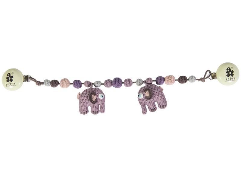 Sebra, vognlenke lilla elefant