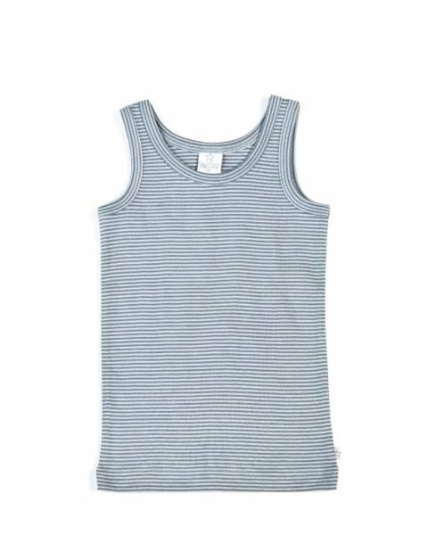 Smallstuff , Singlet med striper denim/light steel blue