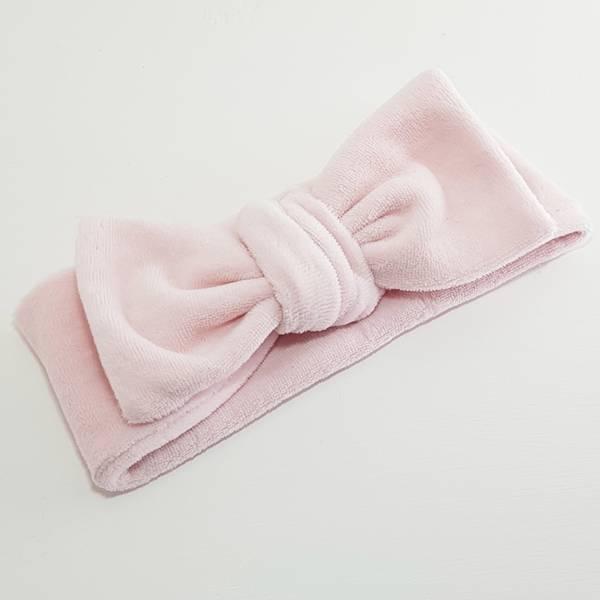 Unik Design, Knytebånd rett matt velour soft rosa