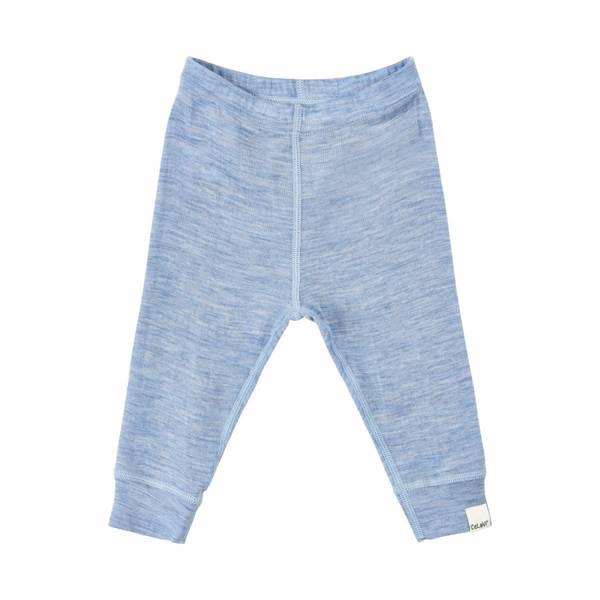 Celavi bukse dusty blue melange merinoull
