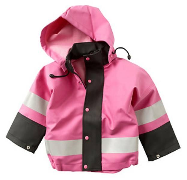 Barnevaderen, regnjakke rosa