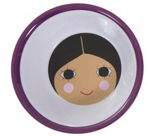 Bilde av Sebra, dyp tallerken jente