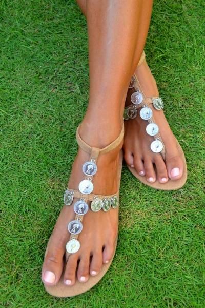 Hot lava, sandaler Buli Coin silver