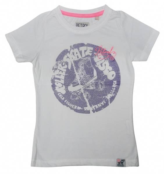Petrol, chalk t-skjorte med print