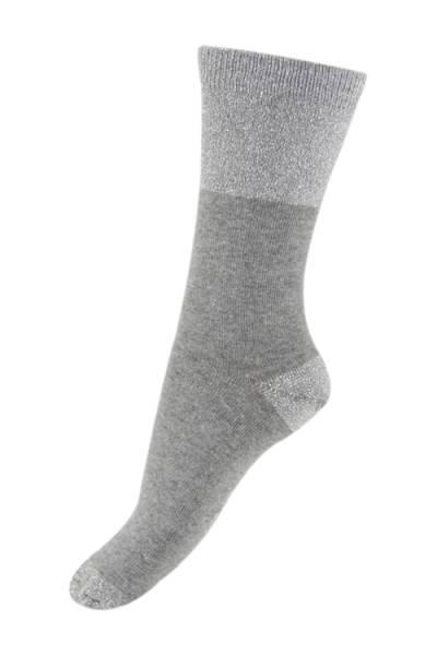 Melton grå sokker med glitter