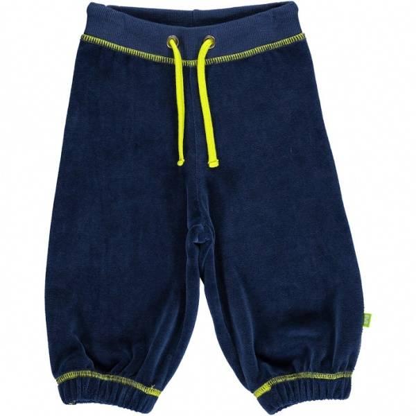 Mala, blå bukse i velur