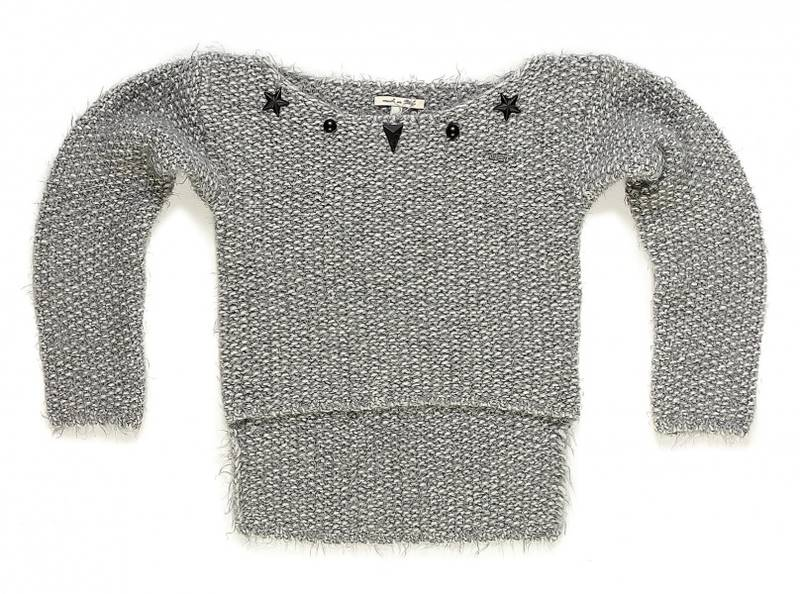 Met, mylay grå strikket genser