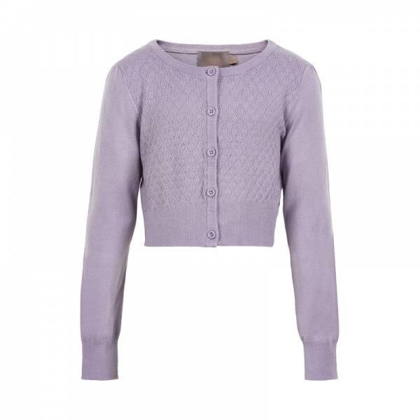 Creamie, Mijanne short cardigan lavender gray