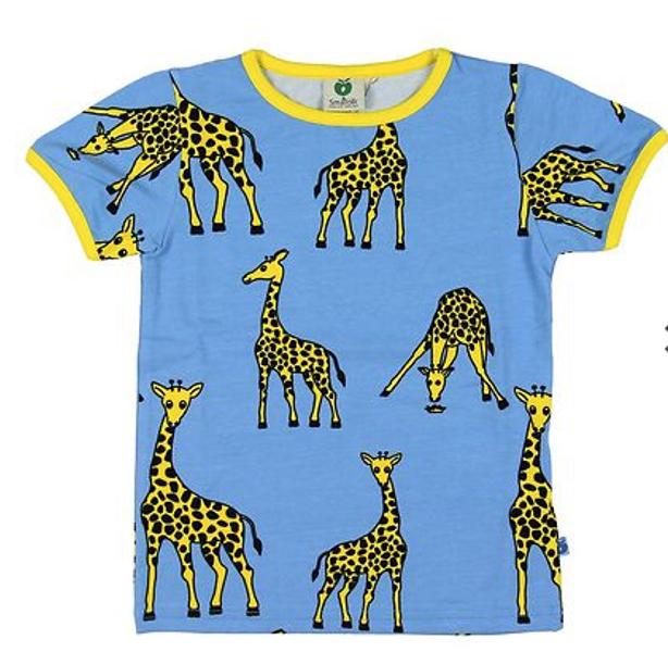 Småfolk sky blue tskjorte med sjiraffer