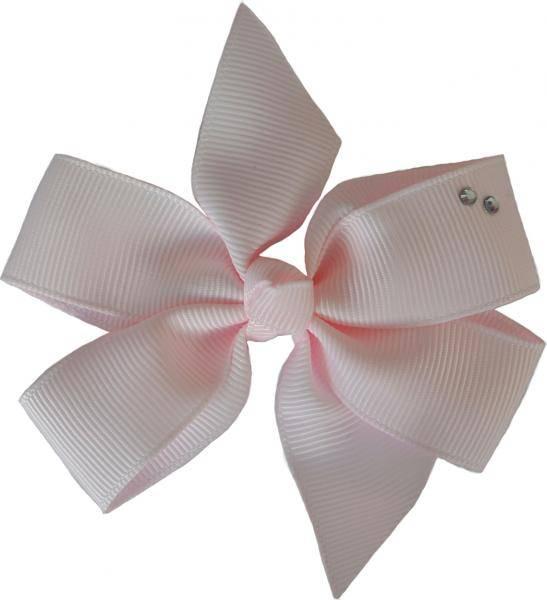 Lys rosa hårspenne 100, med swarovskikrystaller, Den lille prikk