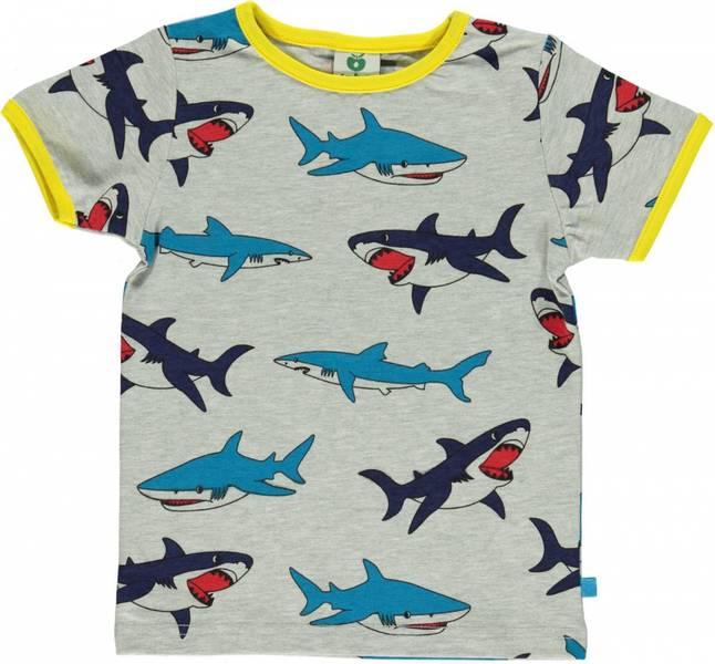 Småfolk grå tskjorte med haier
