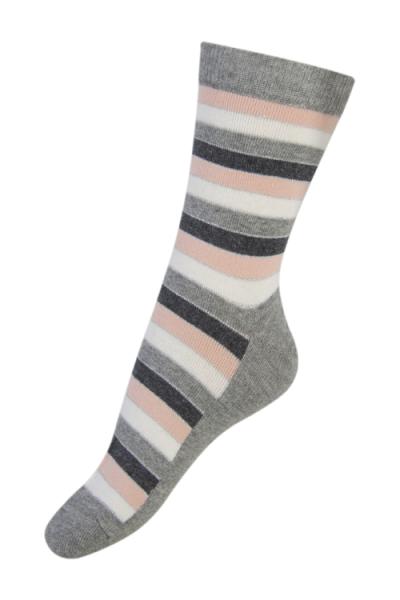 Melton stripete sokker med glitter