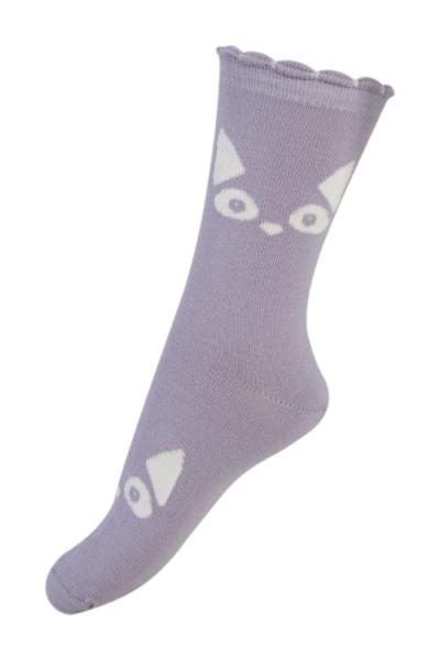 Melton sokker, glow in the dark - cat