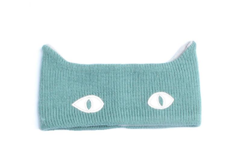 Kattnakken , ullpannebånd malaga blue