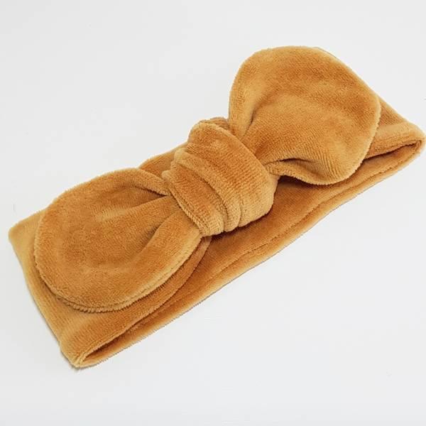 Unik Design, Knytebånd rund matt velour karamell