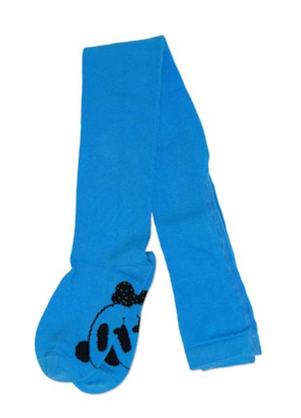 Mini rodini,  panda tights blue
