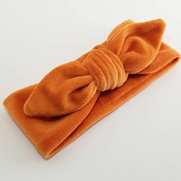 Unik Design, Knytebånd spiss matt velour støvet orange