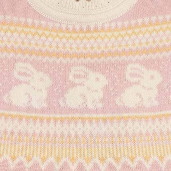 MeMini, Leap strikkekjole  silver pink