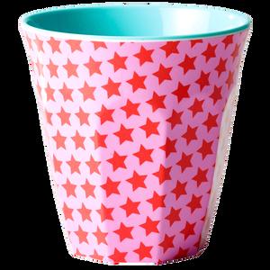 Bilde av Rice, kopp pink and red star