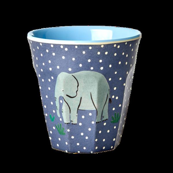 Rice, kopp med elefant