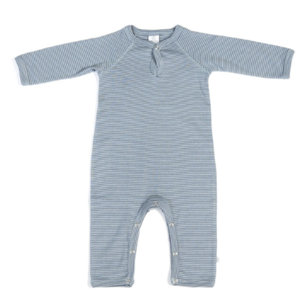 Smallstuff , Pysjamas heldrakt striper denim/light steel blue