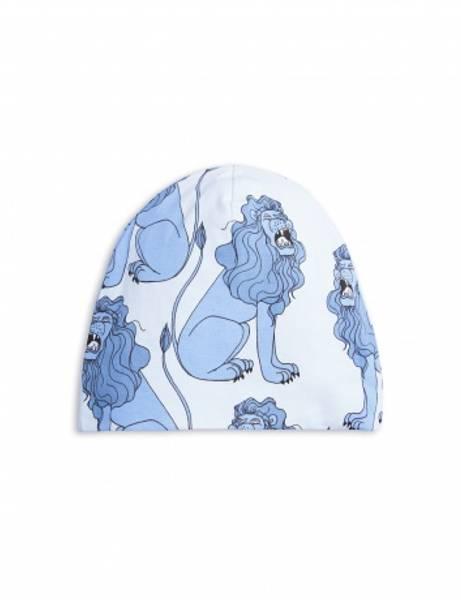 Mini rodini, lion beanie light blue