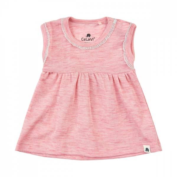 Celavi kjole merinoull silver rosa