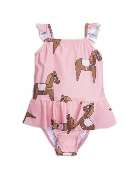 Mini rodini, pink horses badedrakt