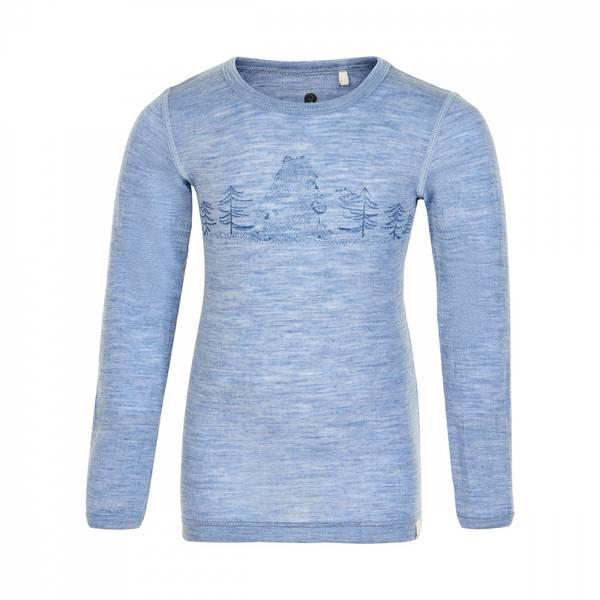 Celavi genser dusty blue merinoull