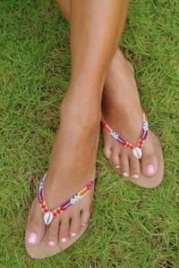Bilde av Hot lava, sandaler inka red