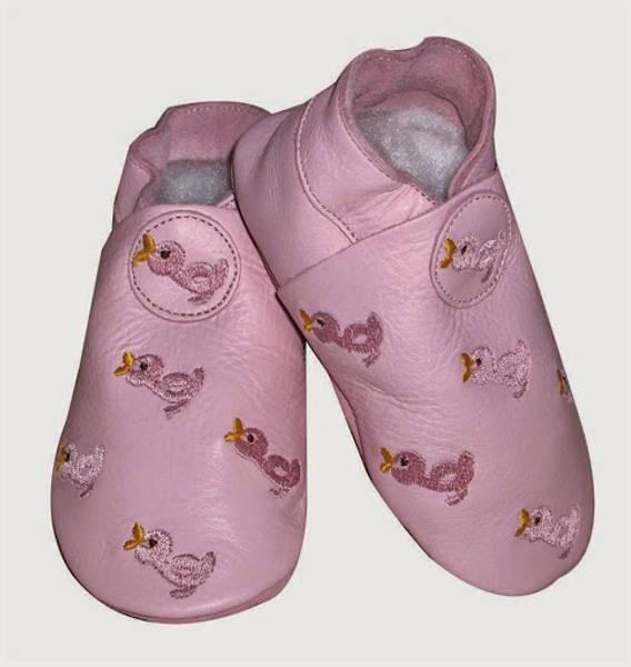 Celavi, rosa skinntøfler med ender