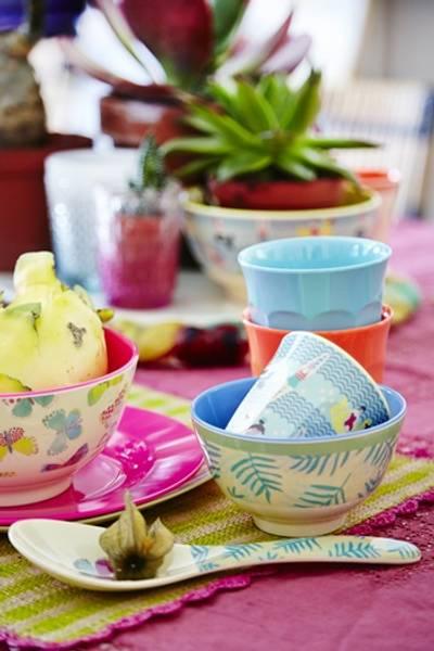 Rice, melaminbolle med sommerfuglprint
