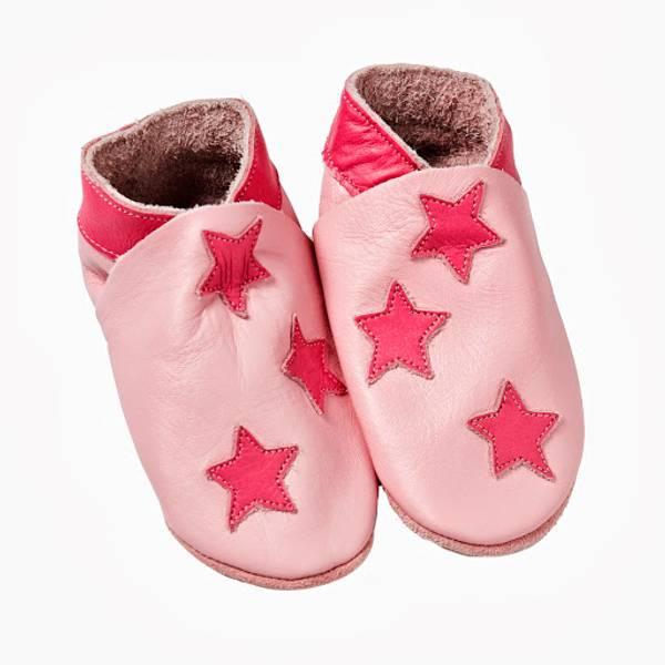 Celavi, rosa skinntøfler med stjerner