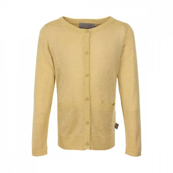 Creamie, cardigan glitter knit gold