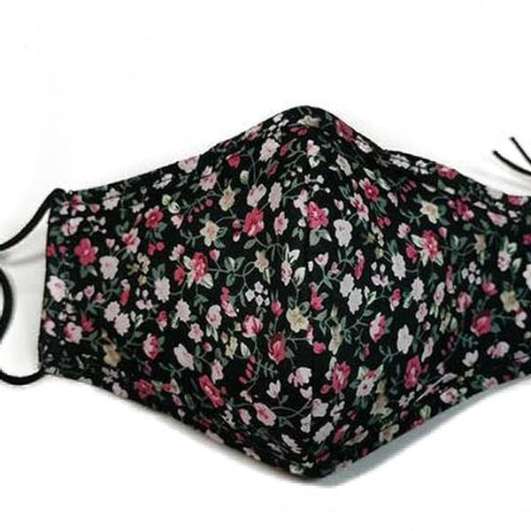 Noma, Munnbind sort med blomster