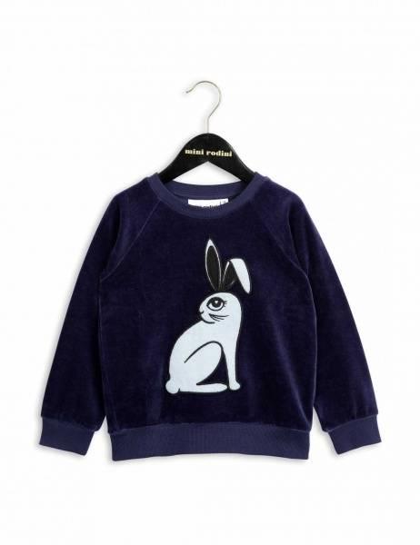Mini rodini, rabbit velour sweatshirt blue