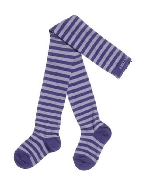 Melton strømpebukse lilla striper