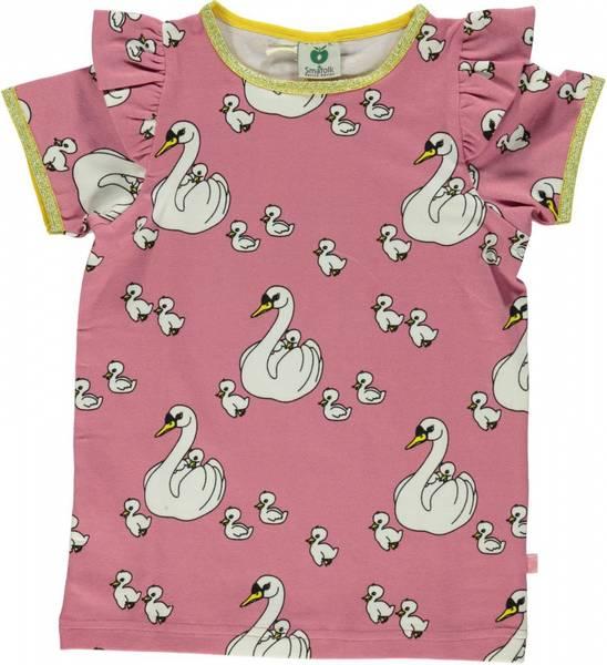 Småfolk sea pink tskjorte med svaner